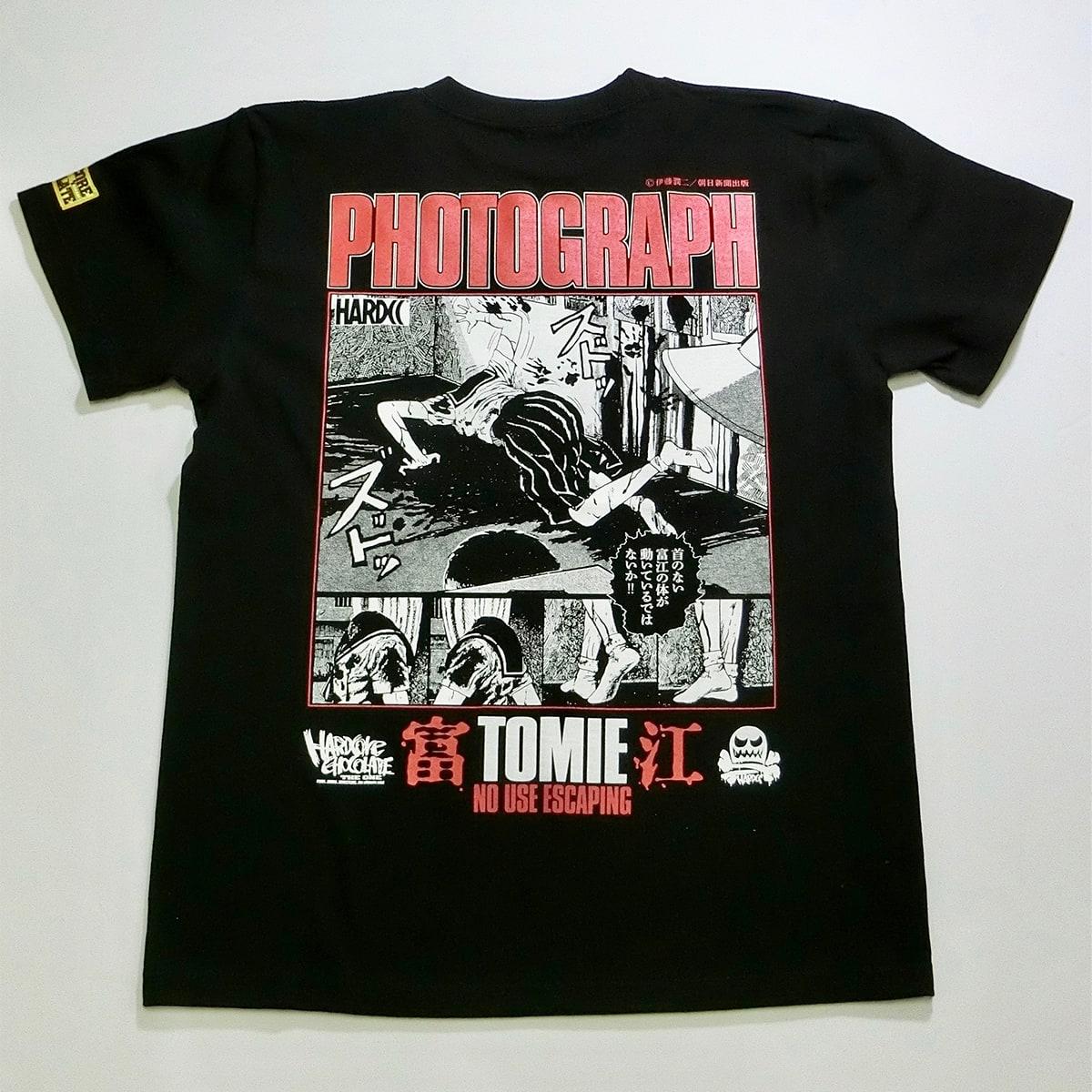 富江-TOMIE-写真(首なしブラック)Tシャツ画像