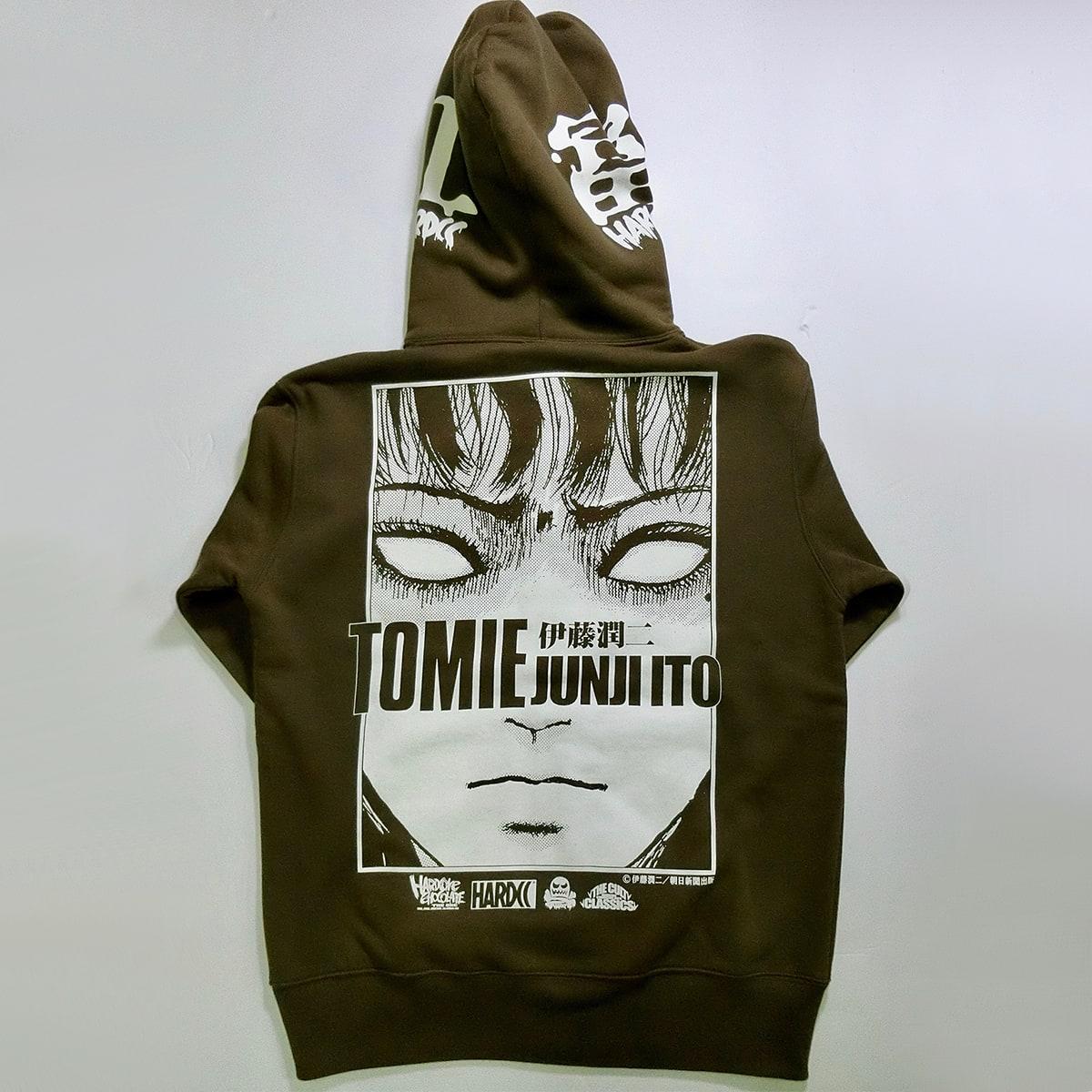 富江-TOMIE-怒りZIPパーカ(魔力オリーブ)画像